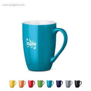 Taza cerámica colores 370 ml - RG regalos publicitarios
