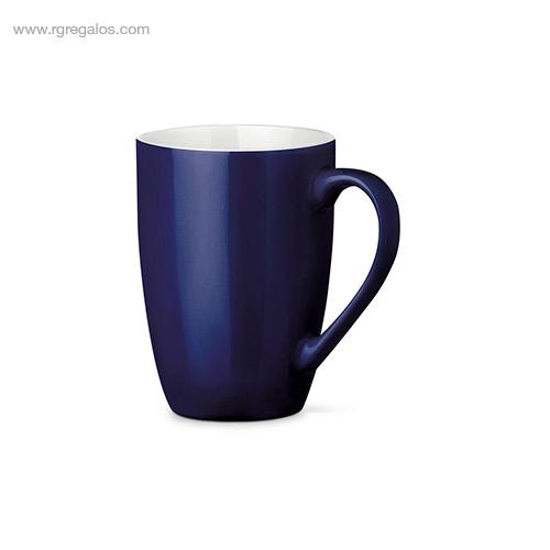 Taza cerámica colores 370 ml azul - RG regalos publicitarios