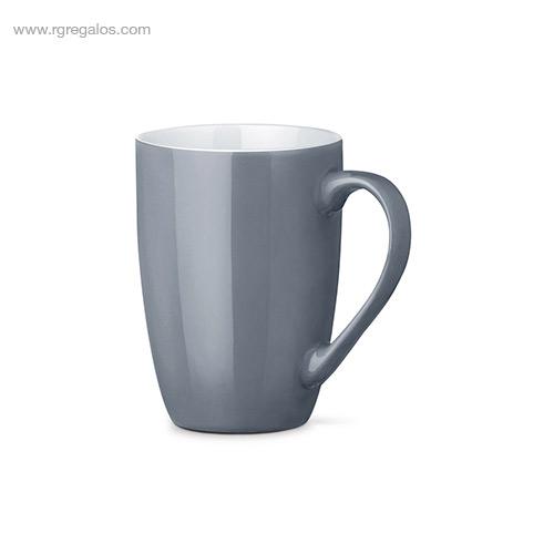 Taza cerámica colores 370 ml gris - RG regalos publicitarios