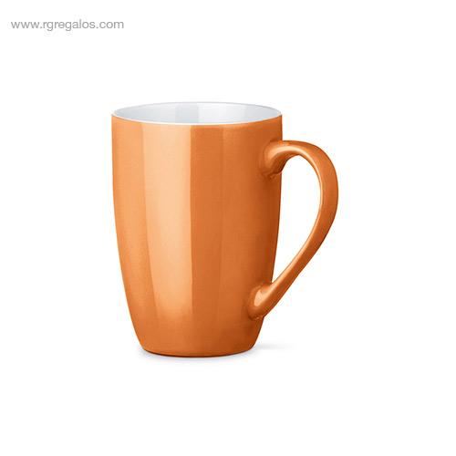 Taza cerámica colores 370 ml naranja - RG regalos publicitarios