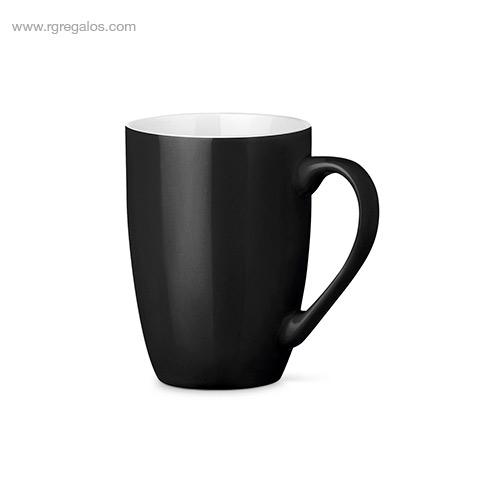 Taza cerámica colores 370 ml negro - RG regalos publicitarios