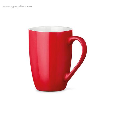 Taza cerámica colores 370 ml rojo - RG regalos publicitarios