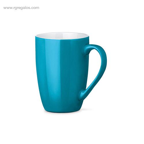 Taza cerámica colores 370 ml turquesa - RG regalos publicitarios