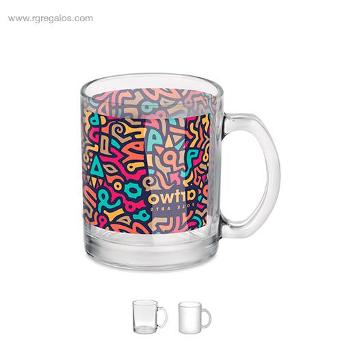 Taza de cristal sublimación - RG regalos de empresa