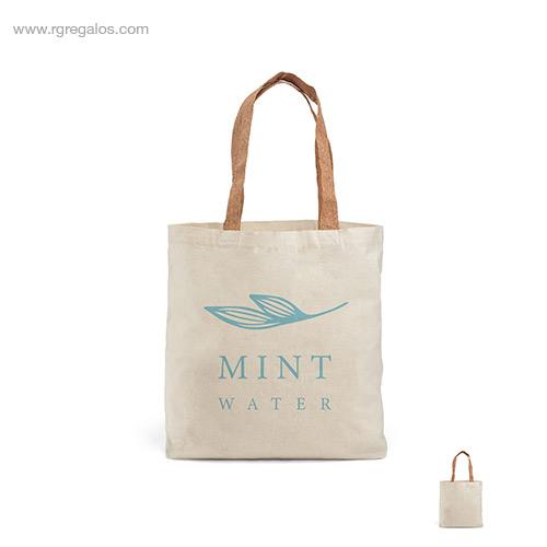 Bolsa algodón asas corcho - RG regalos de empresa