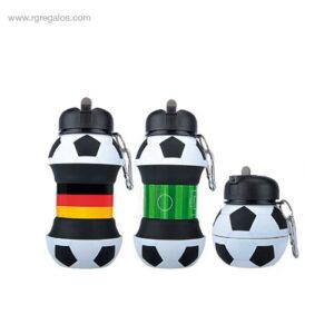 Botella plegable pelota futbol - RG regalos de empresa