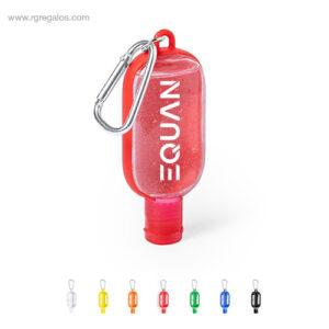 Gel hidroalchólico mosquetón color - RG regalos de empresa