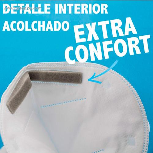 Mascarilla FFP3 blanca confort - RG regalos de empresa