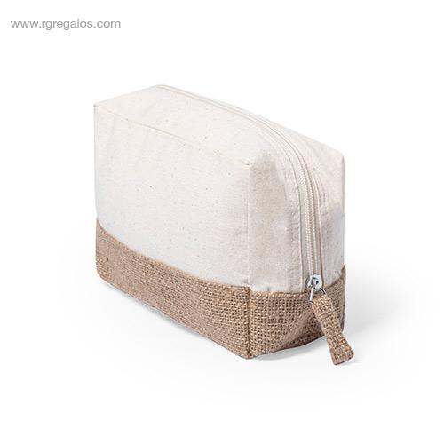 Neceser algodón y yute cremallera - RG regalos