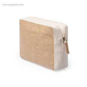Neceser de yute y algodón lateral - RG regalos de empresa