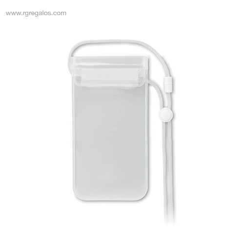 Funda móvil impermeable blanca - RG regalos de empresa