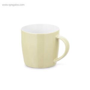 Taza cerámica colores brillantes 370 ml crema - RG regalos de empresa