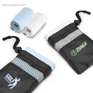 Toalla deportiva con bolsa logo - RG regalos de empresa