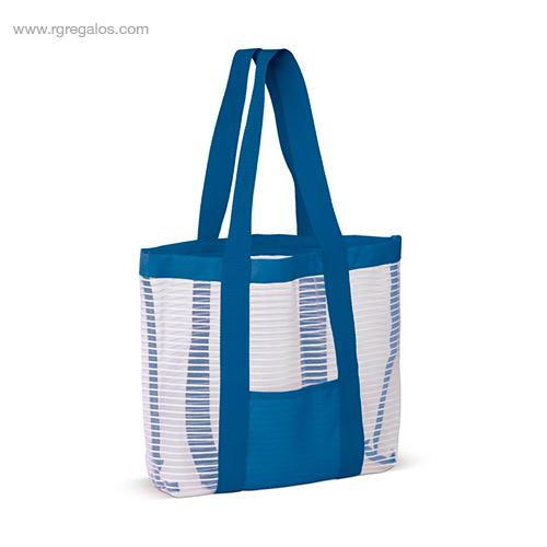 Bolsa de playa de malla azul - RG regalos personalizados