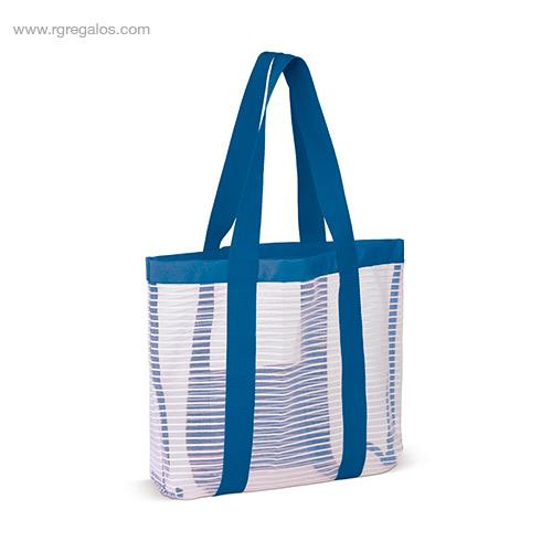Bolsa de playa de malla azul - RG regalos promocionales