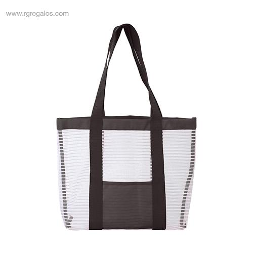 Bolsa de playa de malla negra- RG regalos personalizados