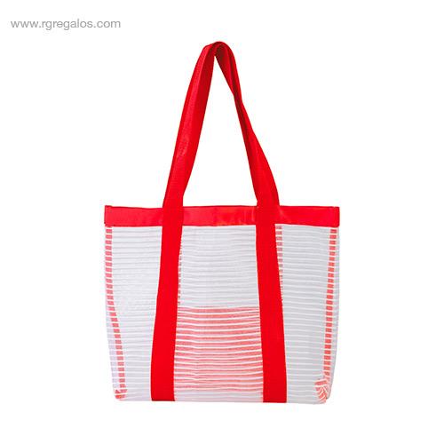 Bolsa de playa de malla roja - RG regalos promocionales