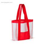 Bolsa de playa de malla roja - RG regalos publicitarios