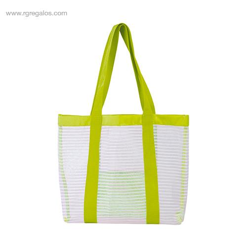 Bolsa de playa de malla verde - RG regalos personalizados
