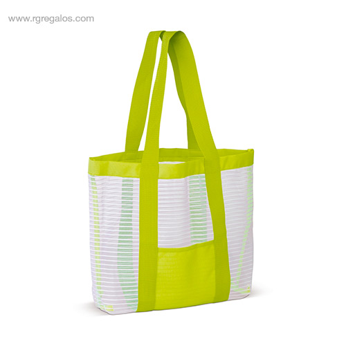 Bolsa de playa de malla verde - RG regalos promocionales