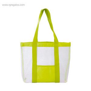 Bolsa de playa de malla verde - RG regalos publicitarios