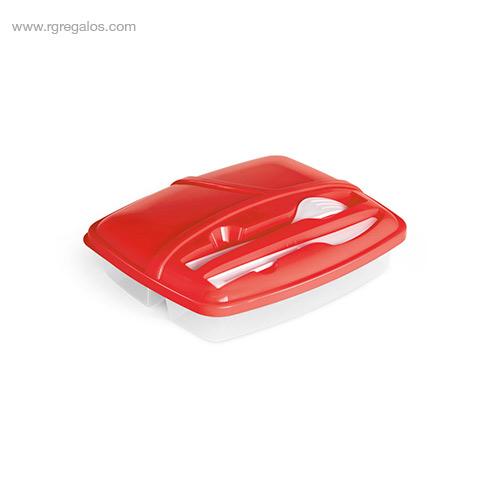 Fiambrera-3-compartimentos roja-RG-regalos
