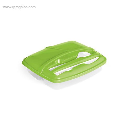 Fiambrera-3-compartimentos verde-RG-regalos