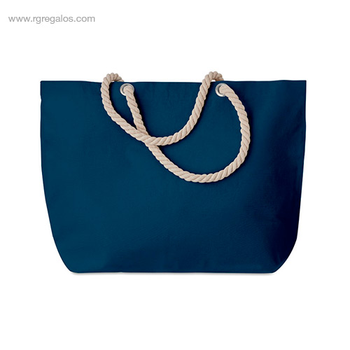 Bolsa-de-playa algodón-azul- RG-regalos-empresa