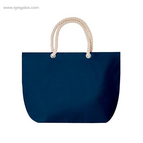 Bolsa-de-playa algodón-azul- RG-regalos-publicitarios