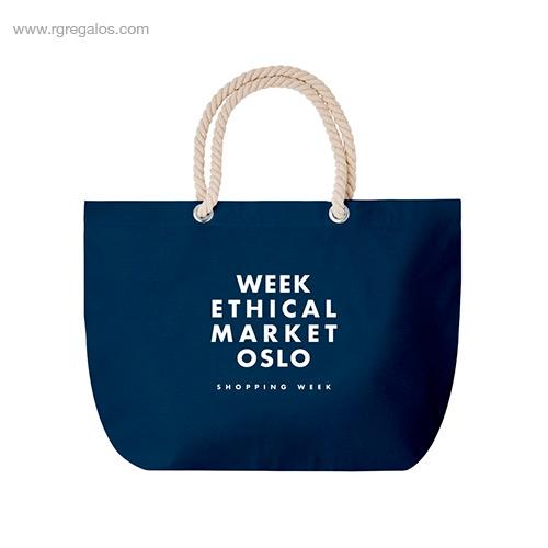 Bolsa-de-playa algodón-azul-logo-RG-regalos