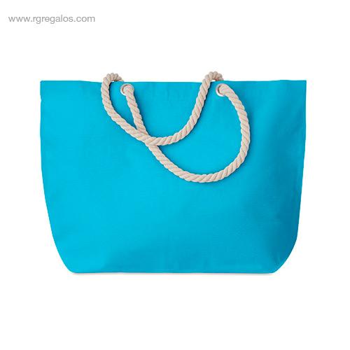 Bolsa-de-playa algodón-turquesa-RG-regalos-publicitarios