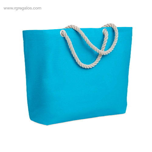 Bolsa-de-playa algodón-turquesa-RG-regalos