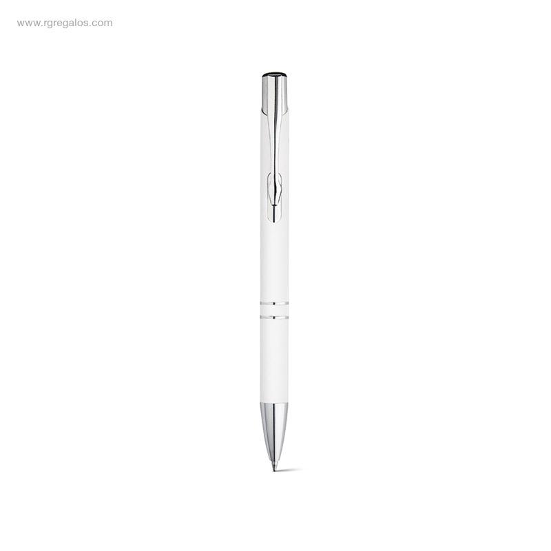 Bolígrafo-aluminio-y-goma- blanco-RG-regalos