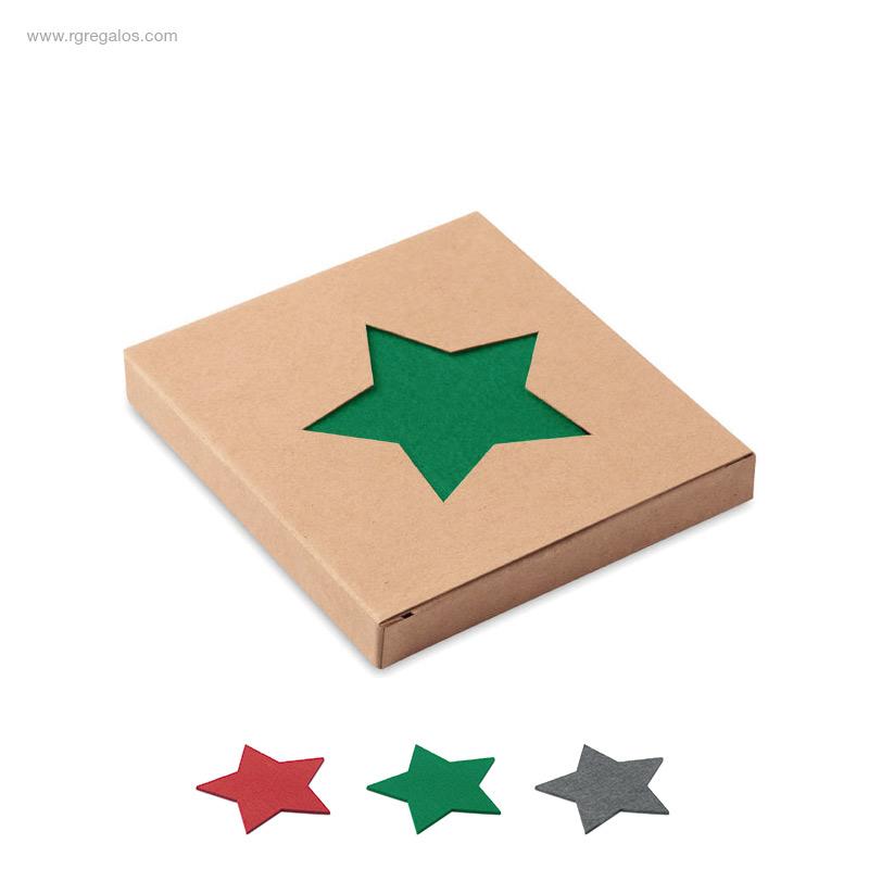 Posavasos-Navidad-fieltro-estrella-RG-regalos
